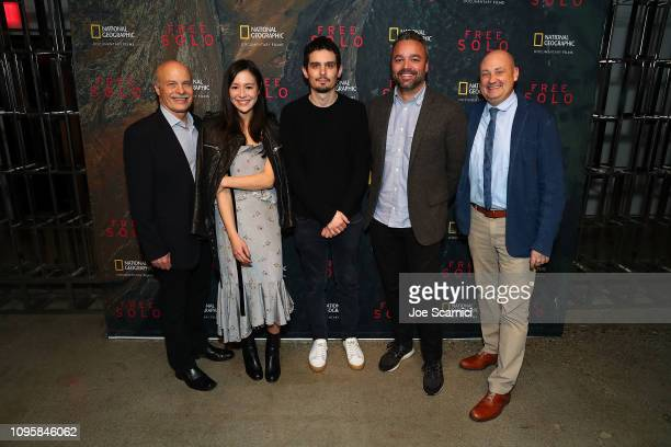 Bob Eisenhardt Elizabeth Chai Vasarhelyi Damien Chazelle Evan Hayes and Chris Albert attend a screening of National Geographic Documentary Films...