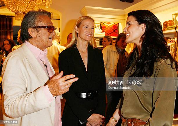 Bob Evans actress Kelly Lynch and actress Angie Harmon attend the Pamela Fioris book signing presented by Ralph Lauren on April 21 2009 in Los...