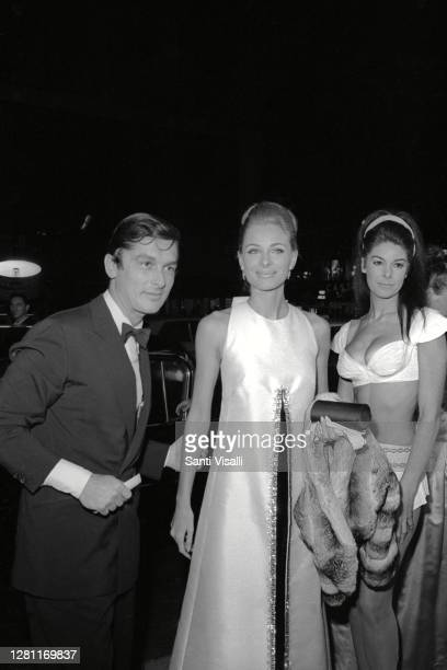 Bob Evans and Camilla Sparv at a Premier of A Fanny Thing Appened On The Way To The Forum on October 16 1966 in New York New York