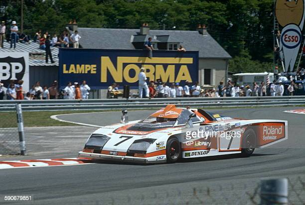 7 Bob Evans and Tony Trimmer Dome in the Ford Chicane at Le Mans 9 June 1979