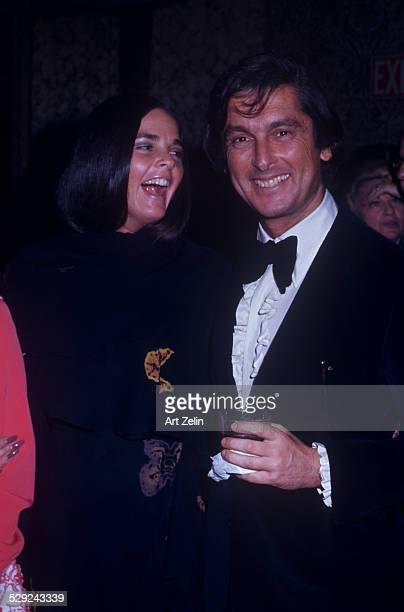 Bob Evans with his wife Ali MacGraw at a formal event circa 1970 New York