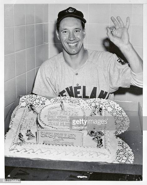 Bob Feller With Birthday Cake Pictures