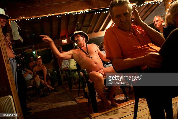 Bob Fesmire attends a debate for the open seats on the Loxahatchee Groves Town Council March 1 2007 at the Sunsport Gardens Family Naturist Resort in...