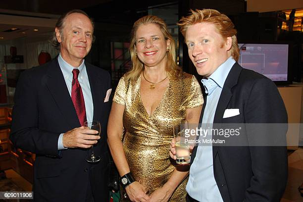 Bob Fischer Evelyn Tompkins and Jamie Edmiston attend LOUIS VUITTON and Daniel Lalonde Host a cocktail reception featuring the History of Louis...