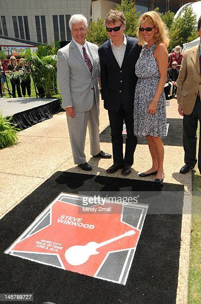 Bob Fisher Steve Winwood and Eugenia Winwood attend the Music City Walk of Fame Induction of Steve Winwood and Bob Babbitt at Walk of Fame Park on...
