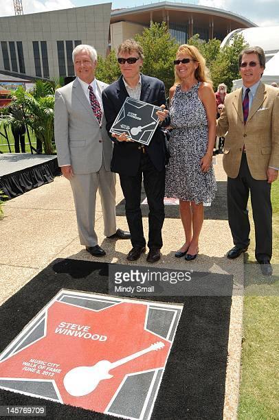 Bob Fisher Steve Winwood Eugenia Winwood and Mark Stengel attend the Music City Walk of Fame Induction of Steve Winwood and Bob Babbitt at Walk of...