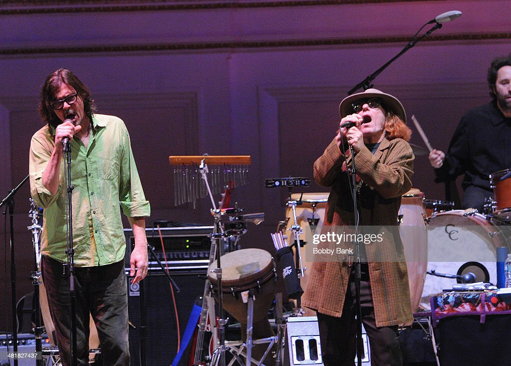 Bob Forrest and Gibby Haynes attends The Music of Paul Simon at Carnegie Hall on March 31, 2014 in New York City.