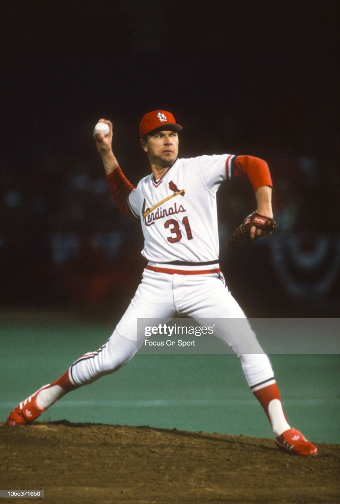 Bob Forsch Of The St Louis Cardinals Pitches Against Milwaukee