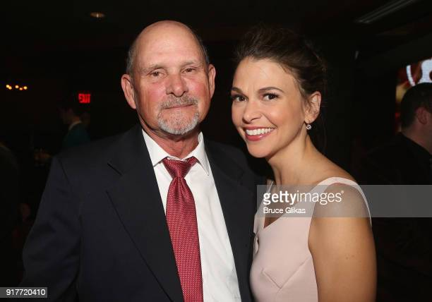 Bob Foster and daughter Sutton Foster pose at the 'Thoroughly Modern Millie' 15th Anniversary Reunion Concert After Party at Opry City Stage on...