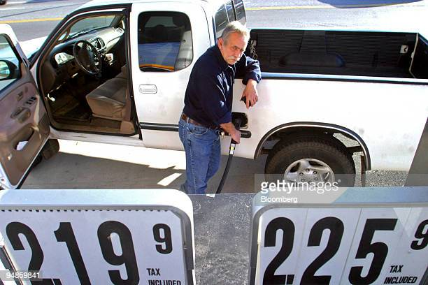 Bob Frank fills up his truck at a Shell Station, on US Route 1 on Tuesday, November 16 in Flanders, Connecticut. Prices paid to U.S. Producers rose...