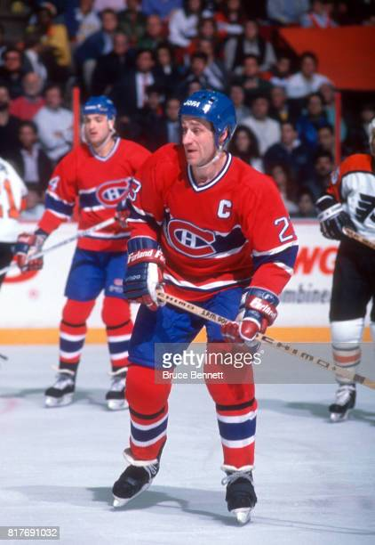 Bob Gainey of the Montreal Canadiens skates on the ice during an 1989 Conference Finals game against the Philadelphia Flyers circa May 1989 at the...
