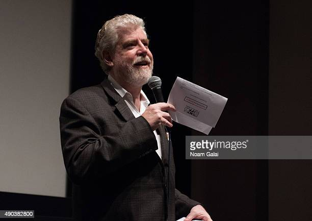 Bob Garfield attends the Brand Meets Story Panel during the 53rd New York Film Festival at Elinor Bunin Munroe Film Center on September 27 2015 in...