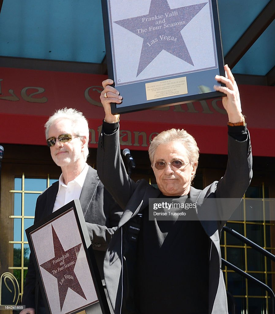 "Frankie Valli And The Four Seasons Receive Star On ""Las Vegas Walk Of Stars"" In Front Of Paris Las Vegas"