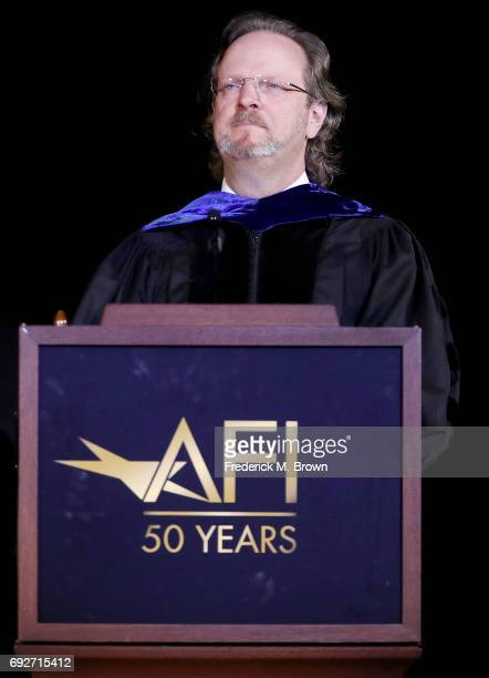 Bob Gazzale President/CEO of AFI speaks during AFI's Conservatory Commencement Ceremony at the TCL Chinese Theatre on June 5 2017 in Hollywood...