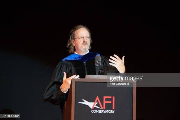 Bob Gazzale speaks onstage at AFI's Conservatory Commencement Ceremony at TCL Chinese Theatre on June 11 2018 in Hollywood California