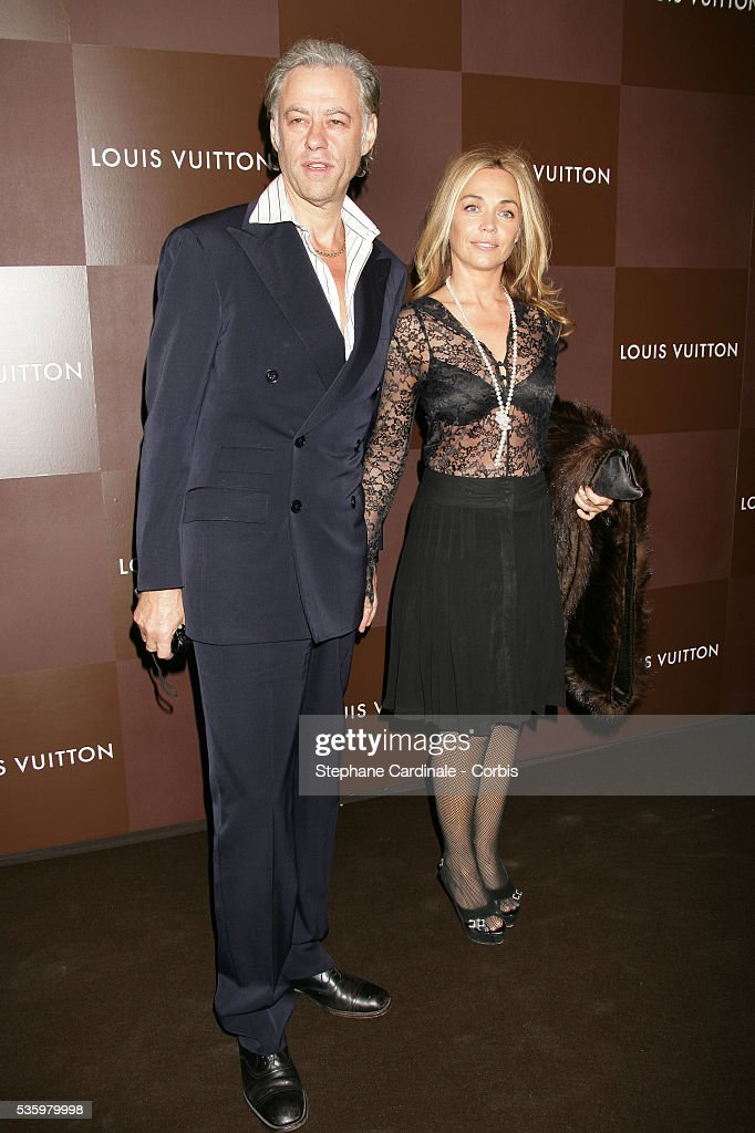 Bob Geldof and date arrive at the opening of the new and biggest Louis Vuitton shop in the world on the Champs Elysees, Paris.