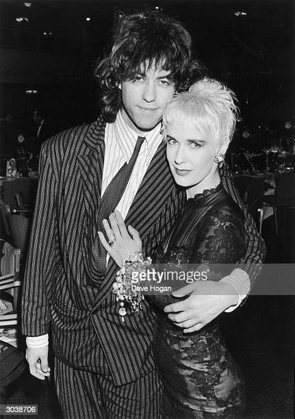 Bob Geldof and his wife Paula Yates attend the BPI Awards in London 9th February 1987