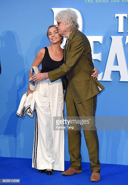 Bob Geldof and Jeanne Marine arrive for the World premiere of 'The Beatles Eight Days A Week The Touring Years' at Odeon Leicester Square on...