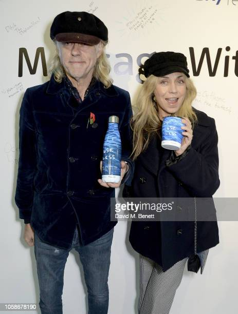 Bob Geldof and Jeanne Marine attend the launch of the Sky Ocean Rescue and Project 0 #PassOnPlastic Reusable Range designed by the likes of HRH...