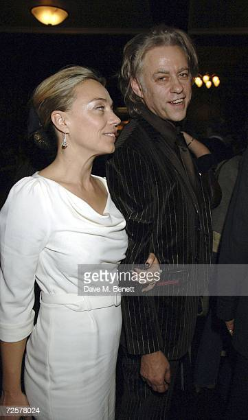 Bob Geldof and Jeanne Marine attend the press night of 'The Sound Of Music' at the Palladium on November 15 2006 in London England