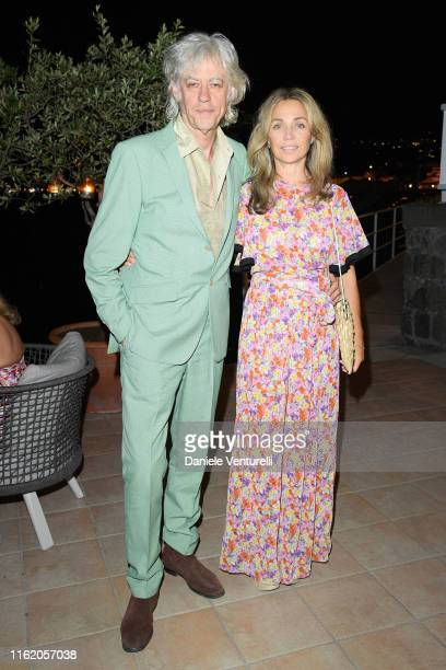 Bob Geldof and Jeanne Marine attends the 2019 Ischia Global Film Music Fest opening ceremony on July 14 2019 in Ischia Italy