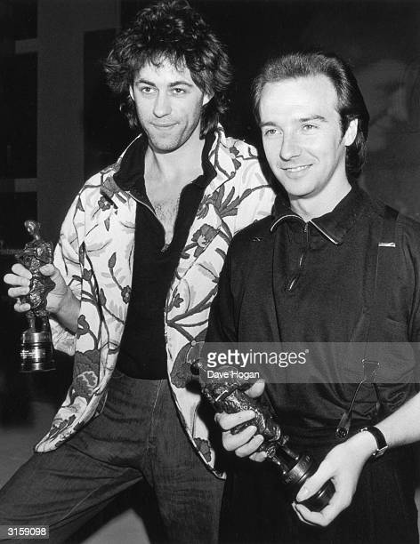 Bob Geldof and Midge Ure are amongst the winners at the Ivor Novello Awards held at the Grosvenor House Hotel 13th March 1985