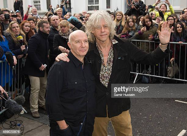 Bob Geldof and Midge Ure attend to record the Band Aid 30 single on November 15 2014 in London England