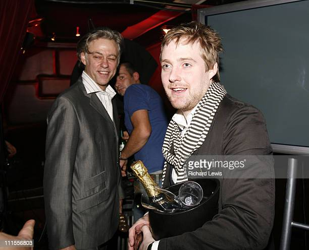 Bob Geldof and Ricky Wilson during Shockwaves NME Awards 2006 Party at Hammersmith Palais in London Great Britain