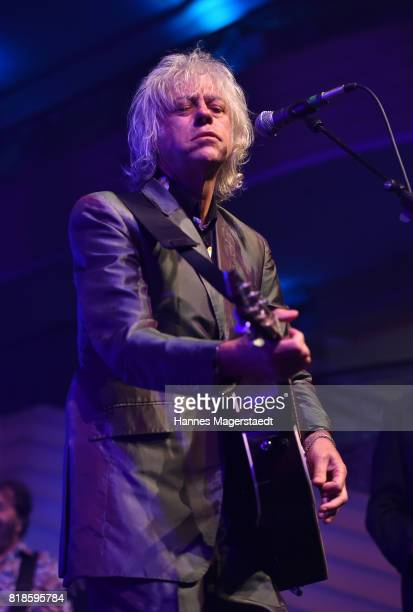 Bob Geldof and the bobkatz performs during the 'Jazz Summer Opening' at Hotel Bayerischer Hof on July 18 2017 in Munich Germany
