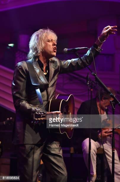 Bob Geldof and the bobkatz performs during the 'Jazz Summer Opening' at Hotel Bayerischer Hof on July 18 2017 in Munich Germany