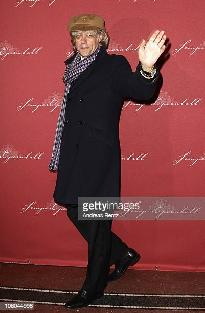 Bob Geldof arrives at the Semper Opera ball on January 14 2011 in Dresden Germany