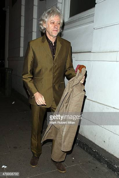 Bob Geldof attending Fran Cutlers Birthday celebrations at Ramusake on April 16 2015 in London England