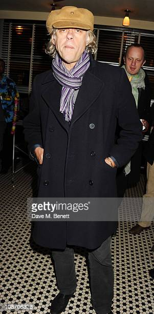 Bob Geldof attends the Chucs Dive Mountain Shop Launch Party at Automat on February 1 2011 in London England