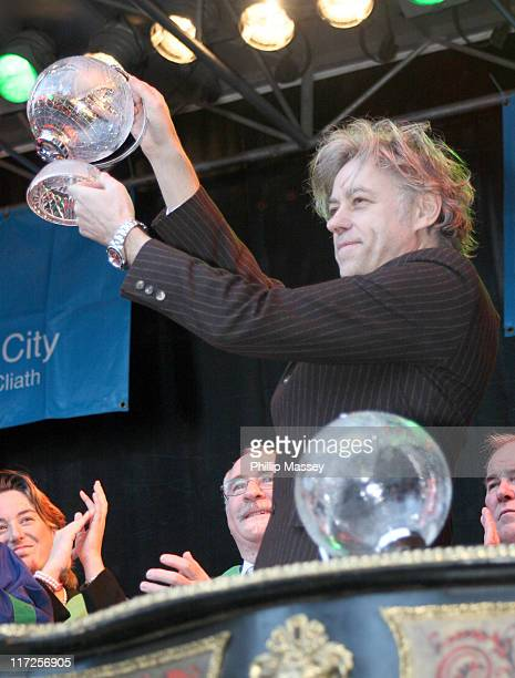 Bob Geldof during Bob Geldof and Ronnie Delany Recieve Honorary Freedom of Dublin at Mansion House in Dublin Ireland