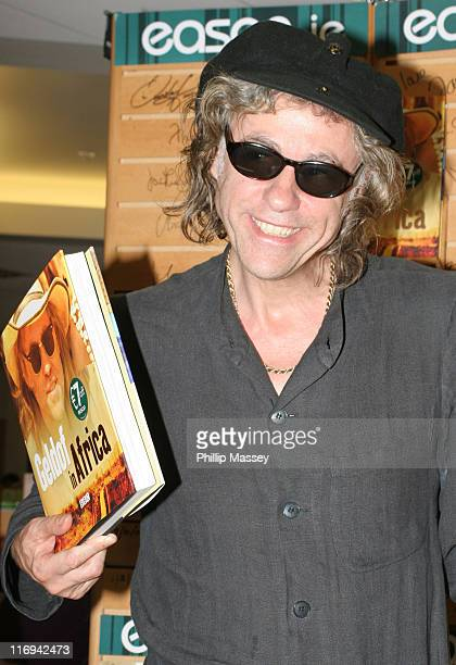 Bob Geldof during Bob Geldof Signs His Book 'Geldof in Africa' at Easons in Dublin June 16 2005 at Easons in Dublin Ireland