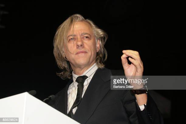 Bob Geldof during his speech at the UNESCO Benefit Gala for Children 2008 at Hotel Maritim on November 1 2008 in Cologne Germany