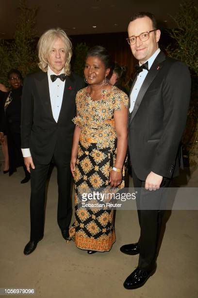 Bob Geldof Monica Geingos and Jens Spahn attend the 25th Opera Gala at Deutsche Oper Berlin on November 3 2018 in Berlin Germany