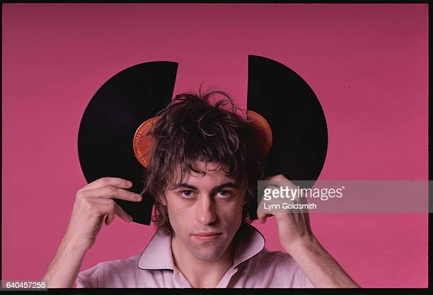 Bob Geldof of The Boomtown Rats Holding a Broken Record