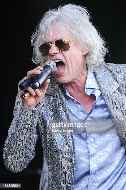 Bob Geldof of the Boomtown Rats performs on day 4 of Latitude Festival at Henham Park Estate on July 19 2015 in Southwold England