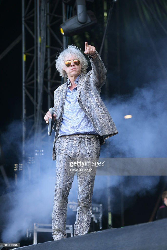 Bob Geldof of the Boomtown Rats performs on day 4 of Latitude Festival at Henham Park Estate on July 19, 2015 in Southwold, England.