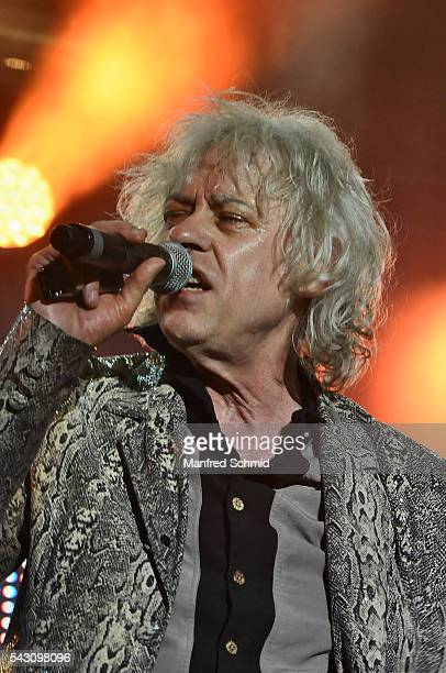 Bob Geldof of the Boomtown Rats performs on stage at Donauinselfest DIF 2016 Vienna at Donauinsel on June 25 2016 in Vienna Austria