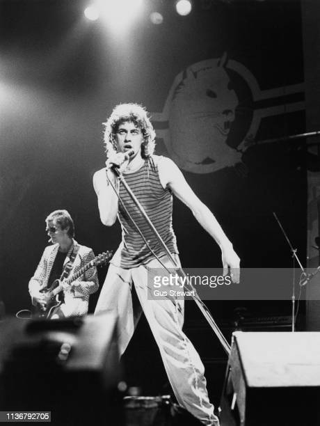 Bob Geldof of the Boomtown Rats performs on stage circa 1979