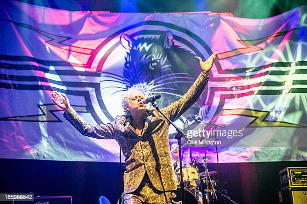 Bob Geldof of The Boomtown Rats performs onstage for the first time in London for 25 years at The Roundhouse on October 26 2013 in London England