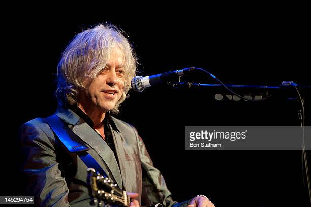 Bob Geldof performs on stage at International Centre on May 25 2012 in Harrogate United Kingdom