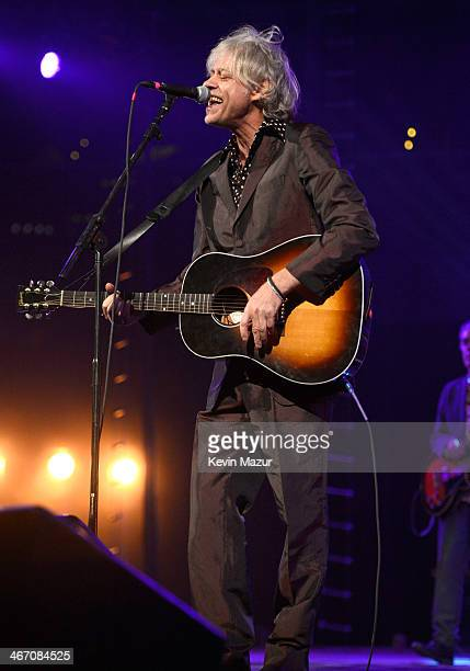 Bob Geldof performs onstage during the Amnesty International Concert presented by the CBGB Festival at Barclays Center on February 5 2014 in New York...