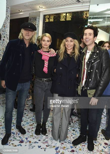 Bob Geldof Pixie Geldof Jeanne Marine and Nick Grimshaw attend the launch of the Sky Ocean Rescue and Project 0 #PassOnPlastic Reusable Range...