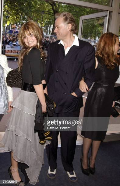 Bob Geldof with daughter Pixie and Jeanne Marine arrive at the UK Premiere of 'Wah Wah' at Odeon West End Leicester Square on May 30 2006 in London...