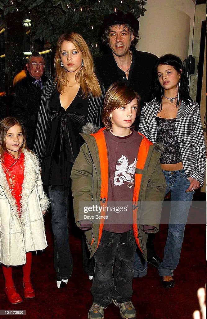 Bob Geldof With Daughters Peaches, Pixie And Tiger Lilly And God Son Lewis, Peter Pan The Movie, Premiere At The Empire, Leicester Square, London