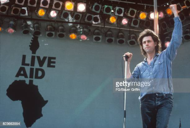 Bob Geldoff at Live Aid on July 13 1985 in London United Kingdom 170612F1