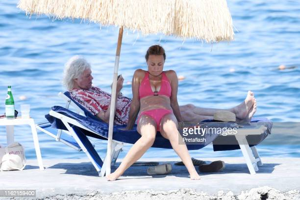 Bob Geldolf and Jeanne Marine are seen on July 15 2019 in Ischia Italy